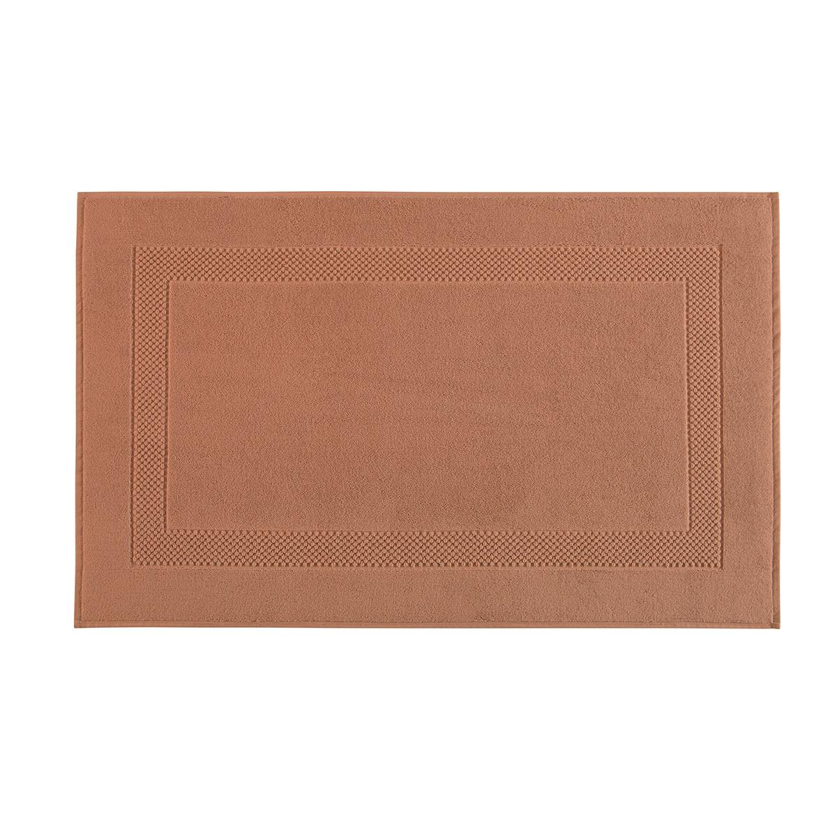 Tapis de bain coton 60x80 cm cannelle