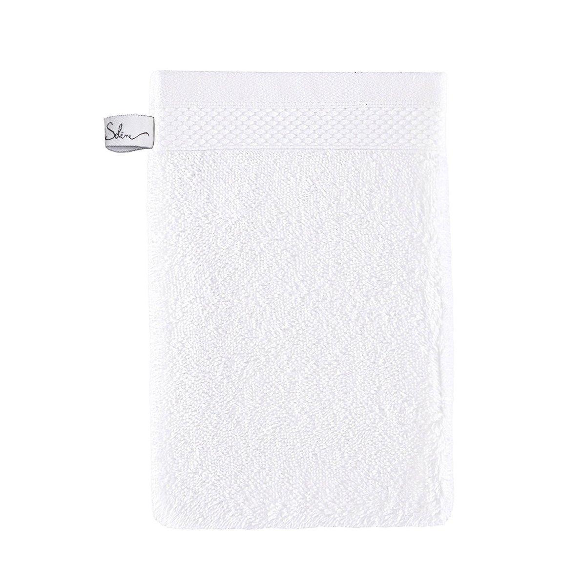Gant de toilette coton 16x22 cm jasmin