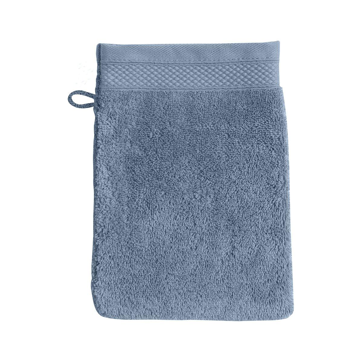 Gant de toilette coton 16x22 cm gentiane