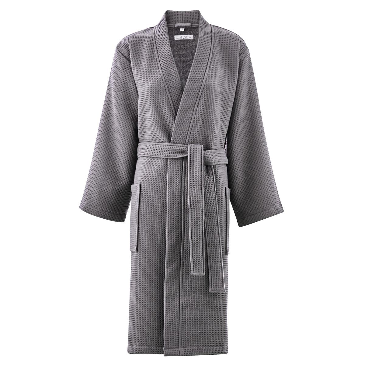 Peignoir coton s gris