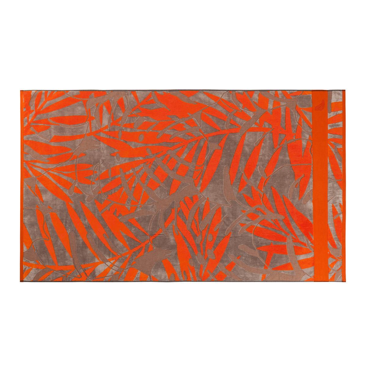 Drap de plage coton 100x180 cm orange imprimé