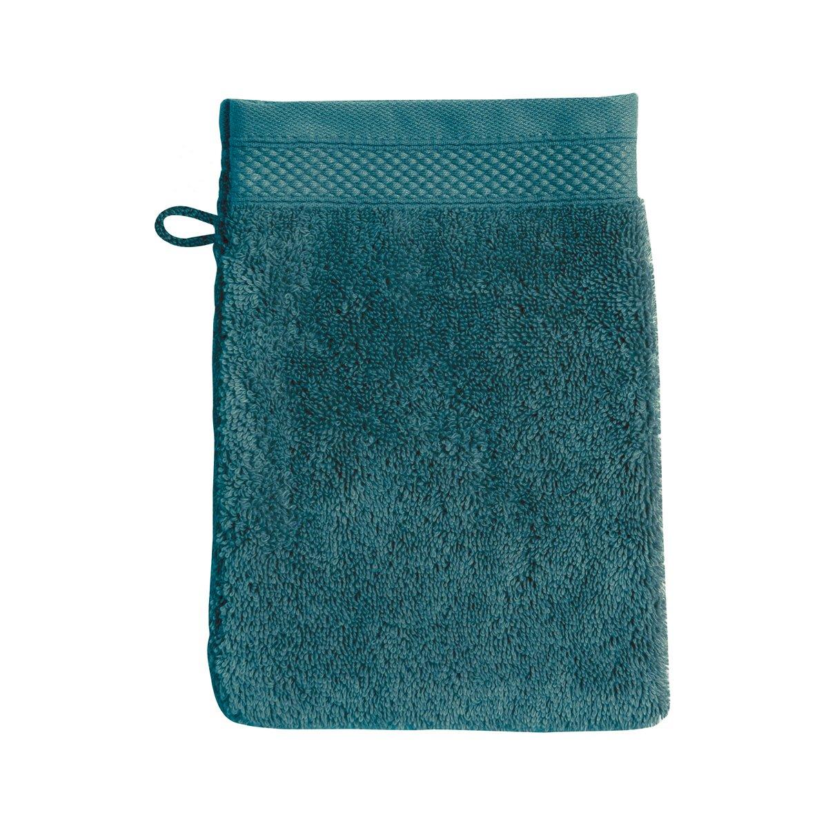 Gant de toilette coton 16x22 cm eucalyptus
