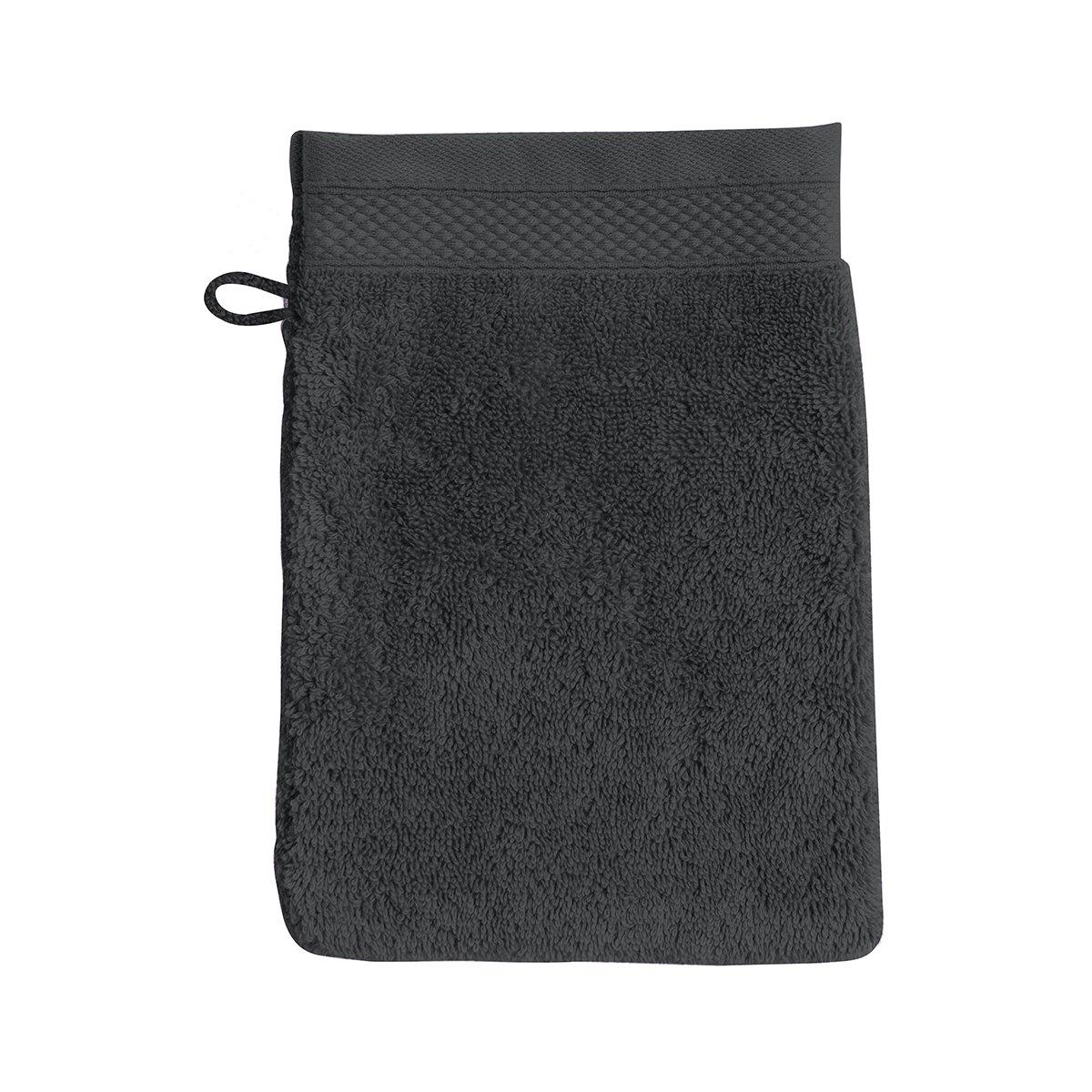 Gant de toilette coton 16x22 cm poivre