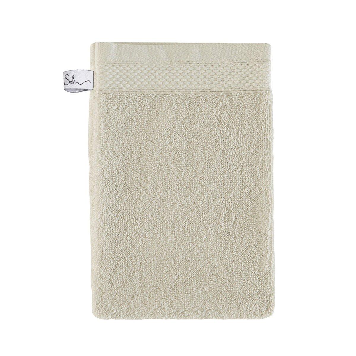 Gant de toilette coton 16x22 cm agave