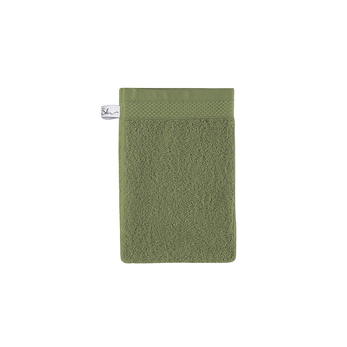 Gant de toilette coton 16x22 cm cèdre