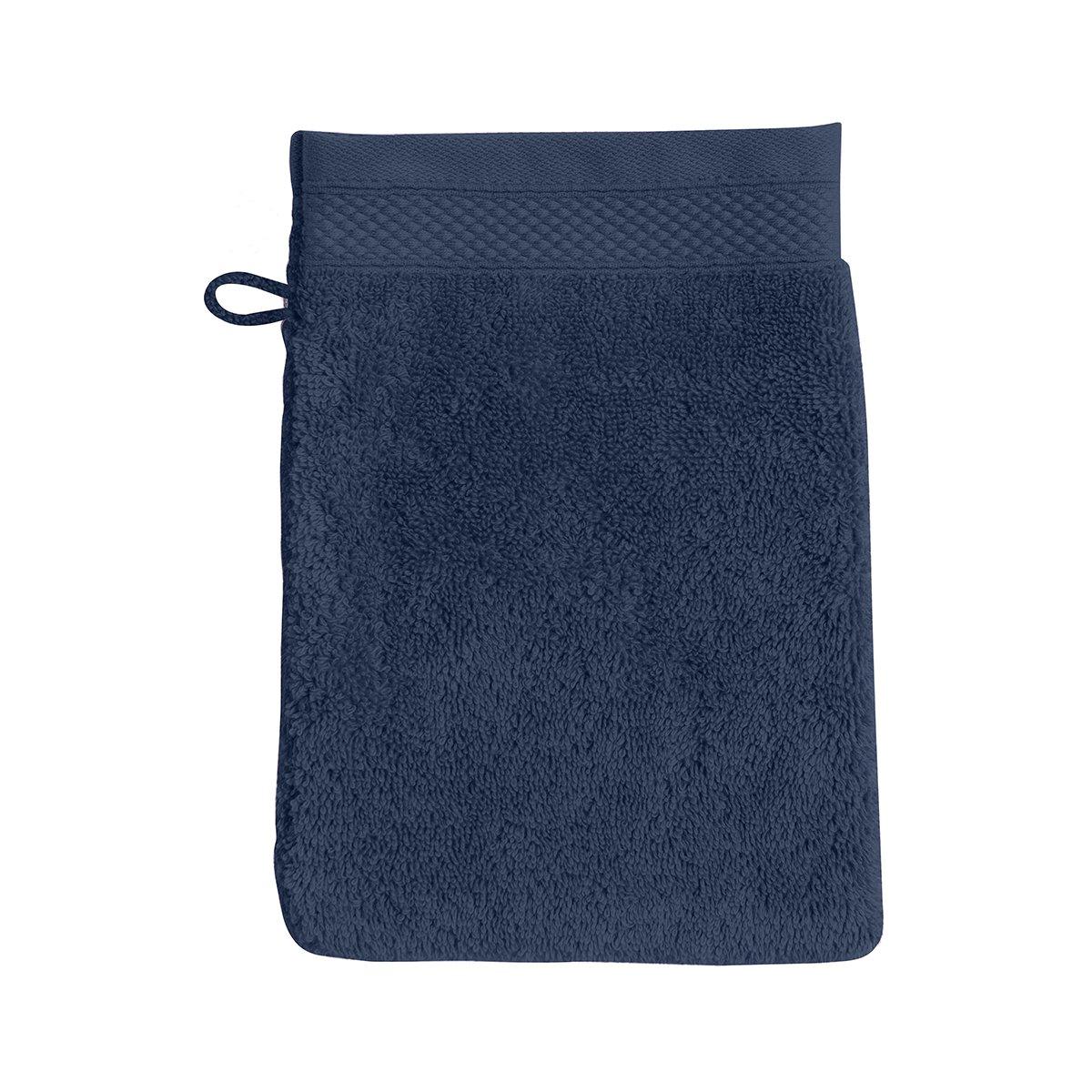 Gant de toilette coton 16x22 cm bleuet