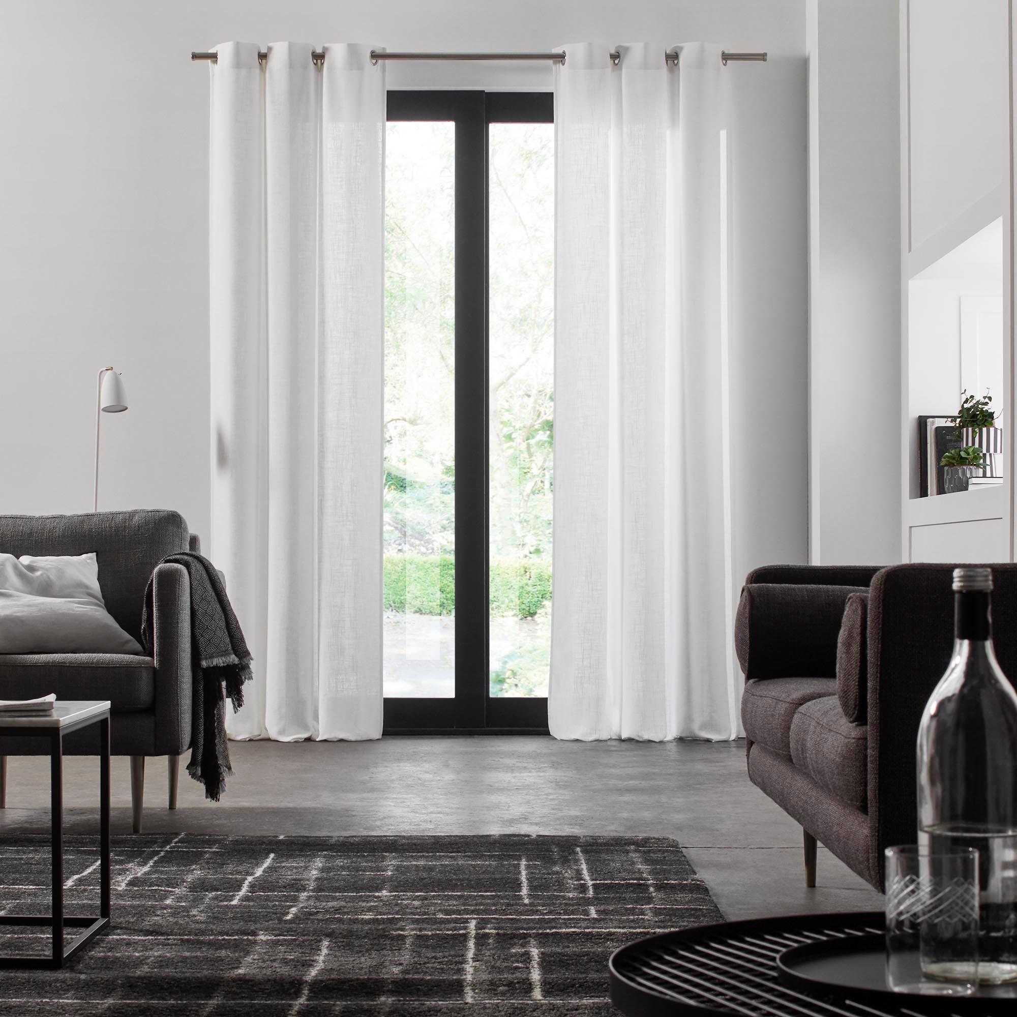 Rideau à oeillets BELLAVISTA 138x350 cm Blanc