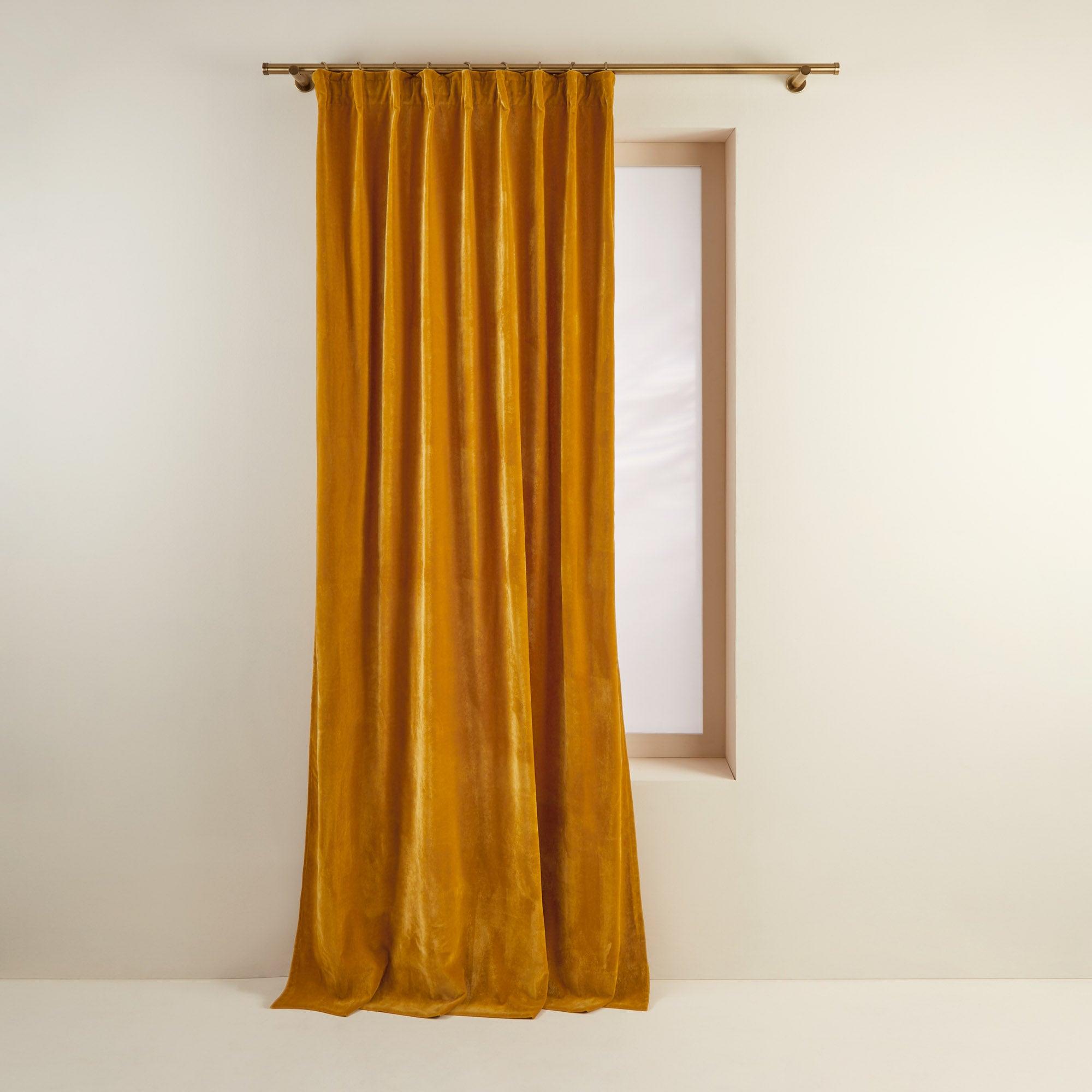 Rideau à ruban fronceur DARIO 134x350 cm Ocre