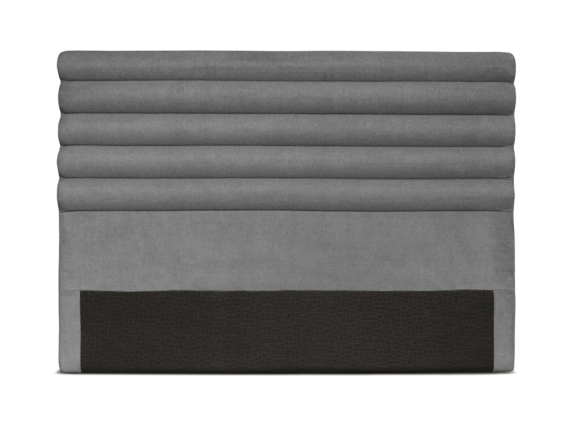 Tête de lit design en tissu gris - 160cm