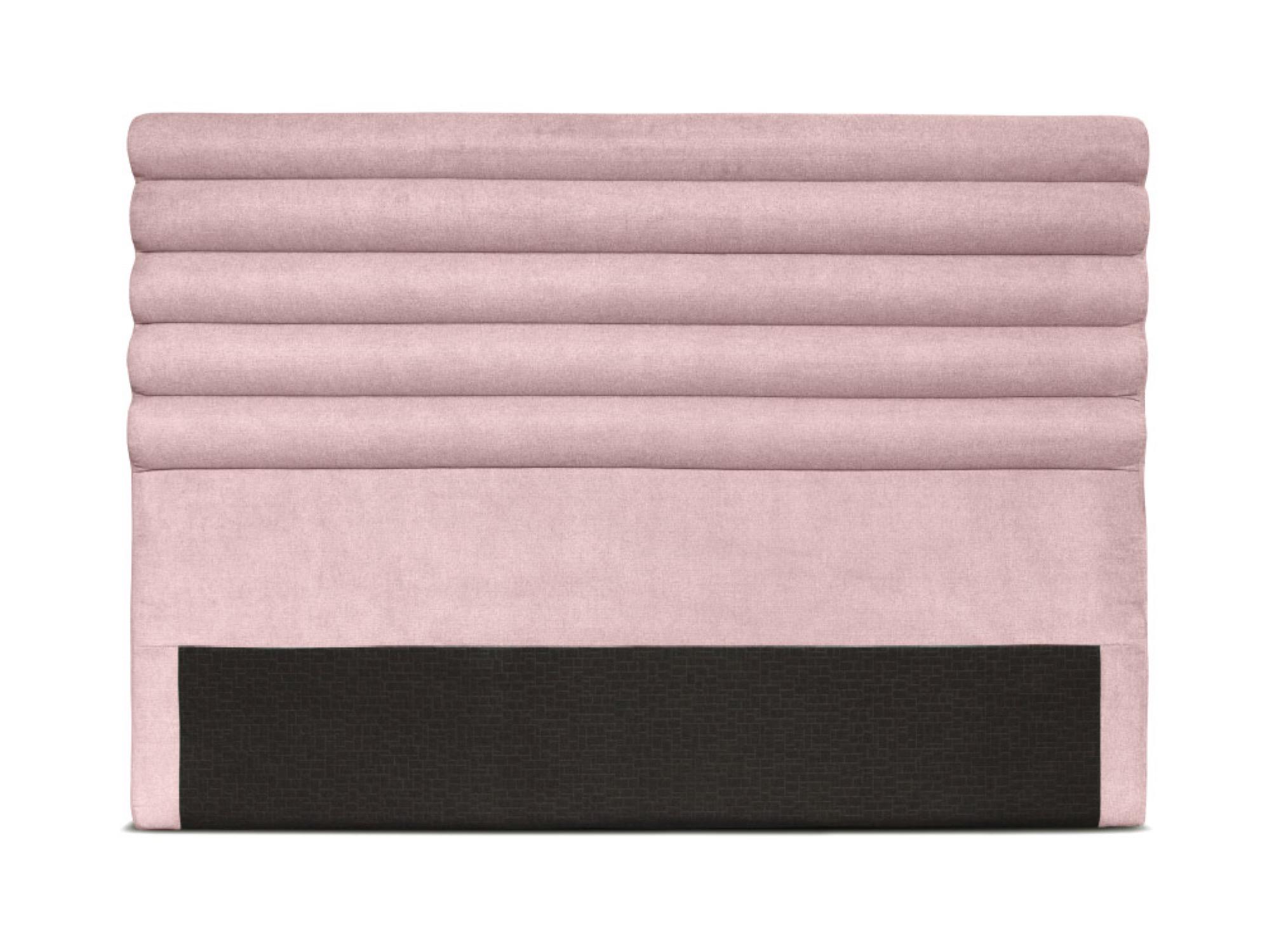 Tête de lit design en tissu rose - 160cm