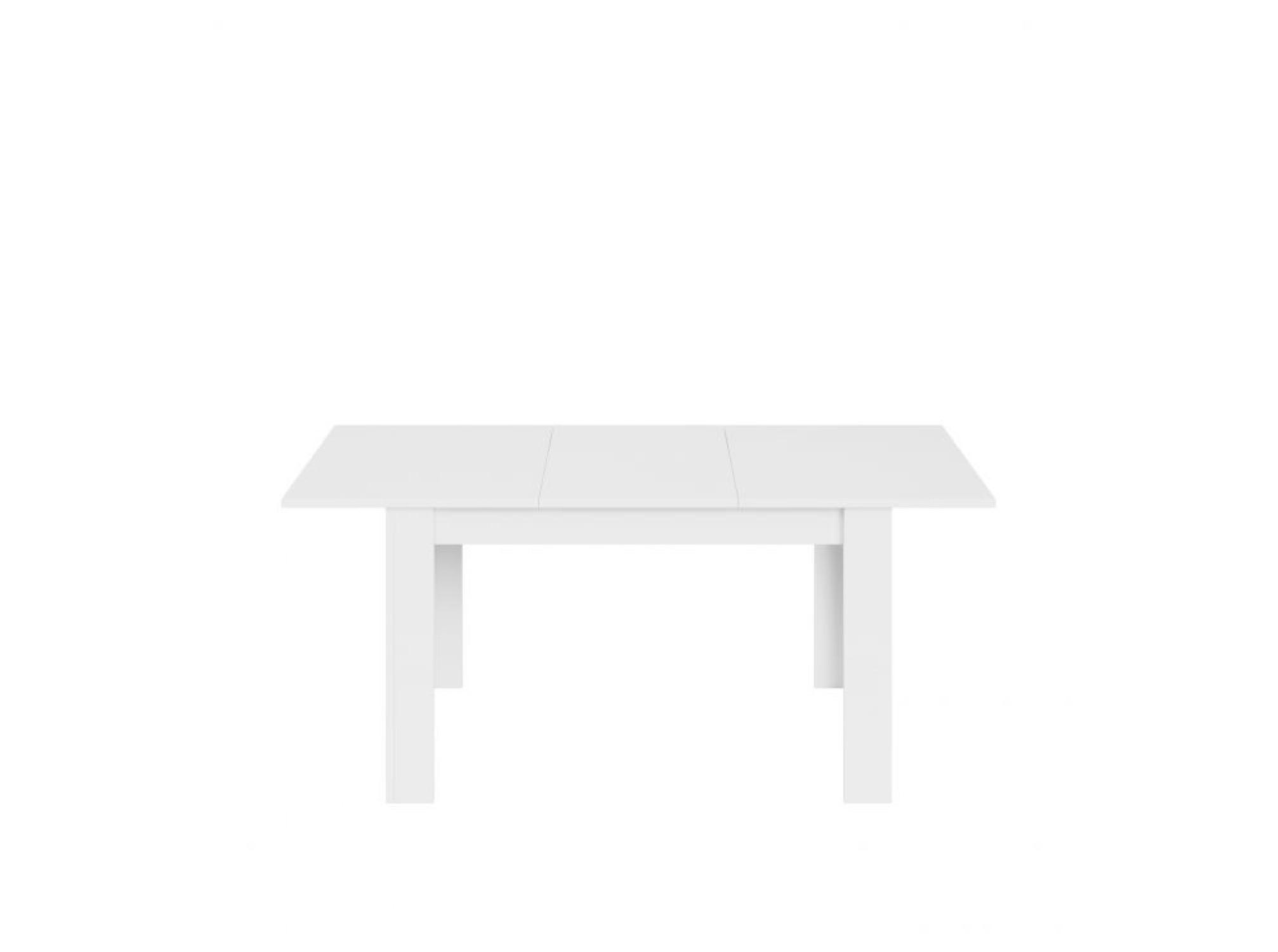 Table à manger extensible blanc brillant L140/190cm