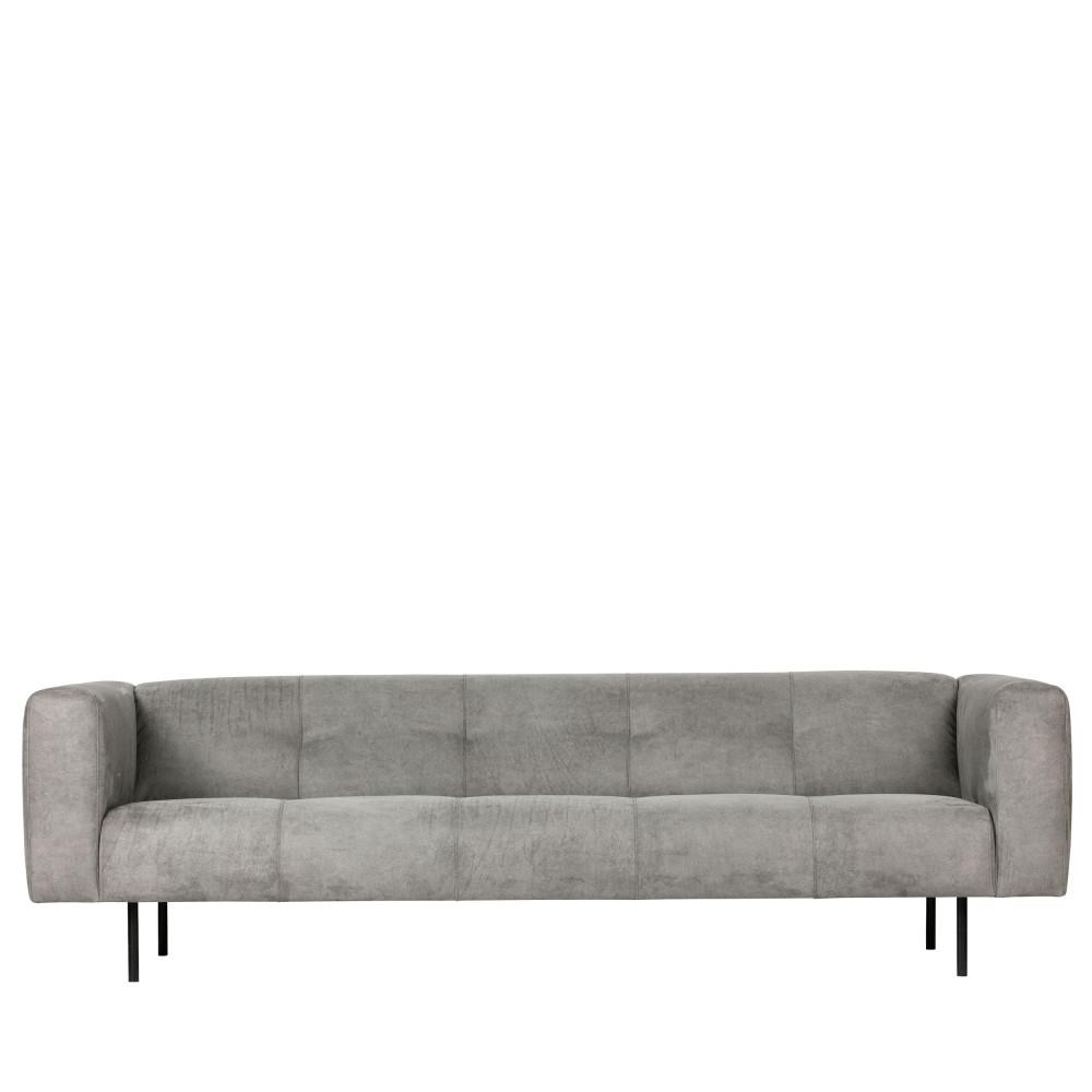 Canapé 4 places en simili gris clair