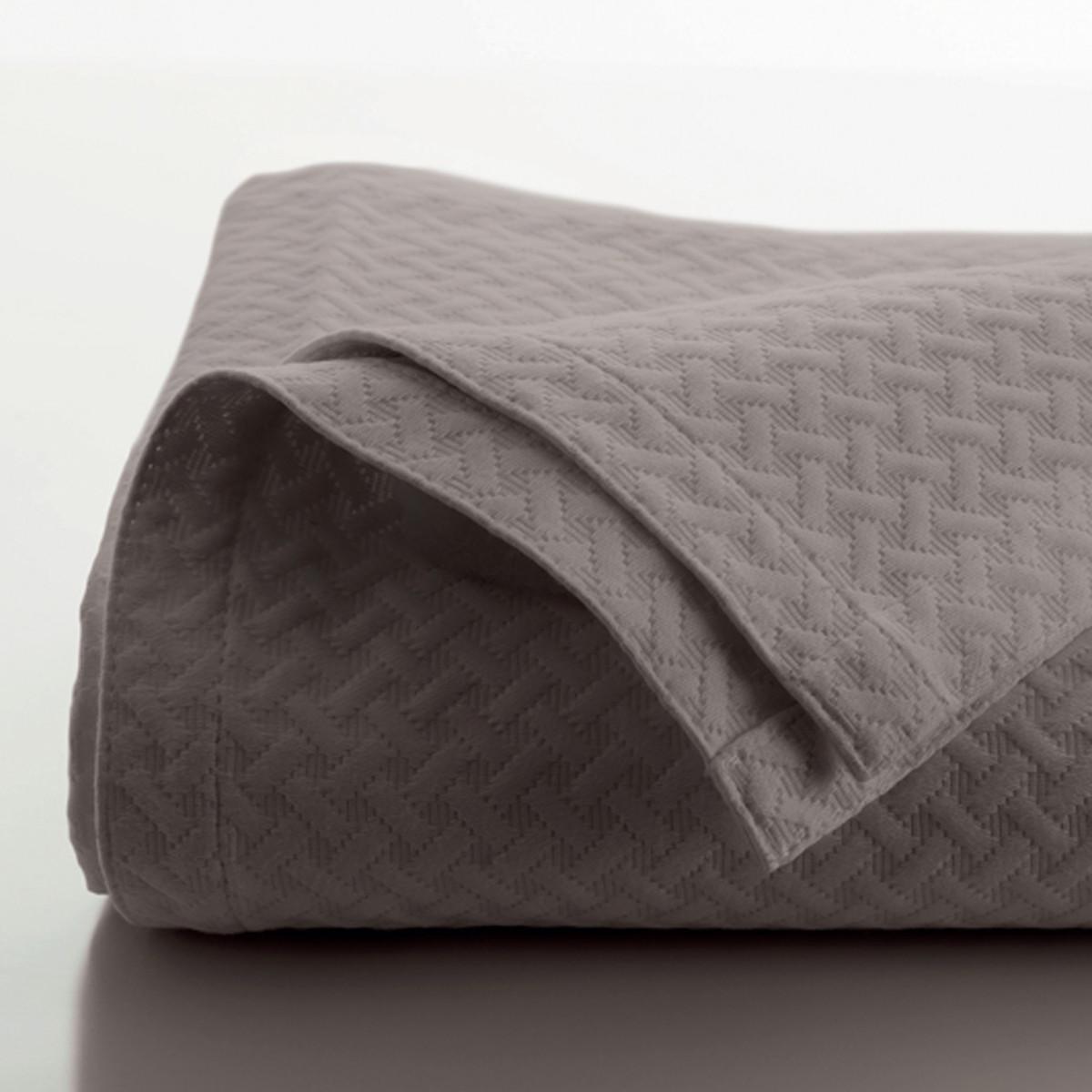 Jete de lit coton 230x250 cm taupe