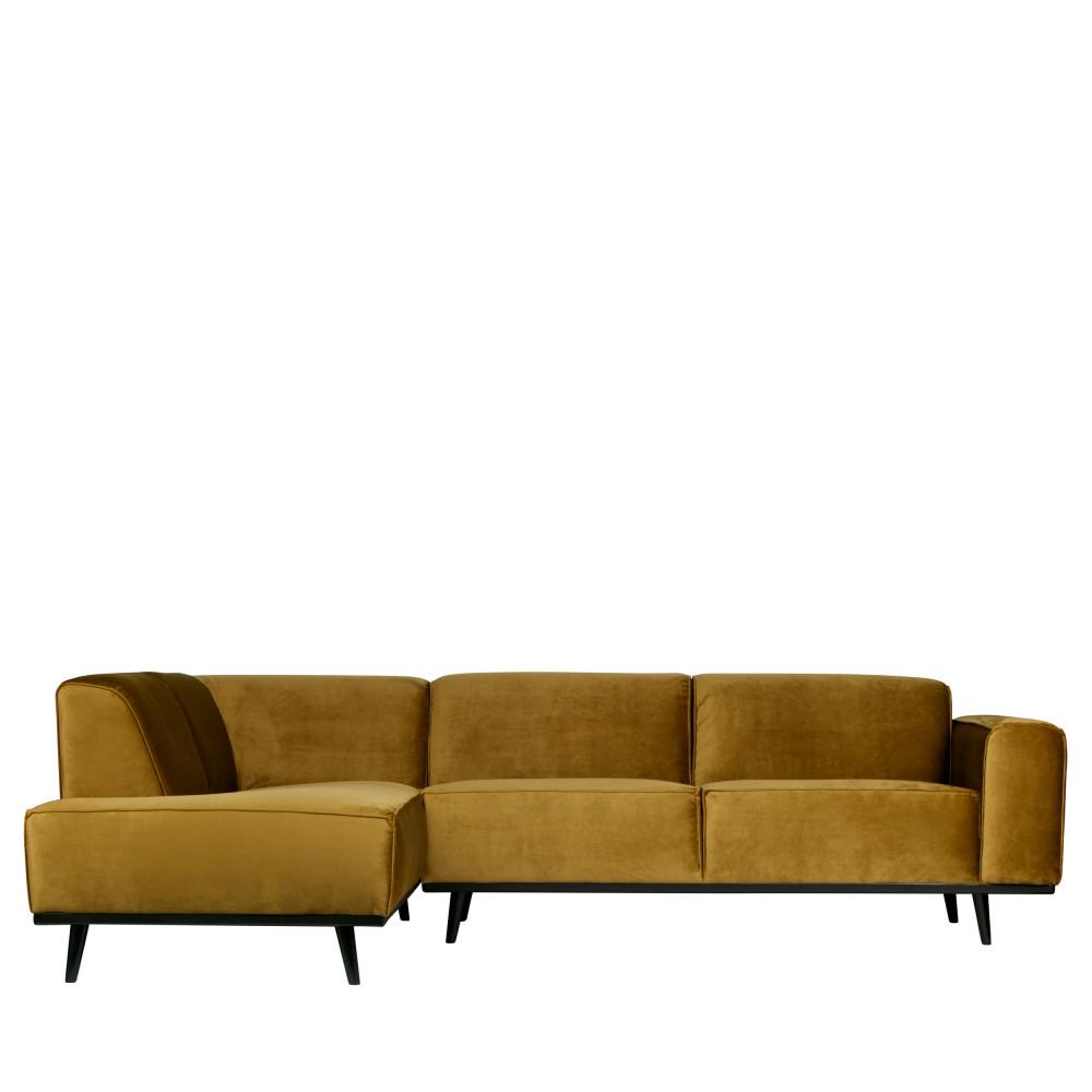 Canapé d'angle Gris Velours Confort