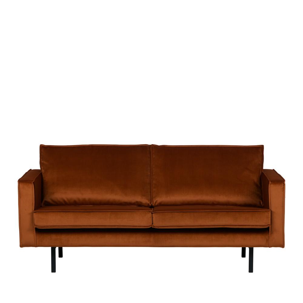 Canapé droit 3 places Noir Velours Design Confort