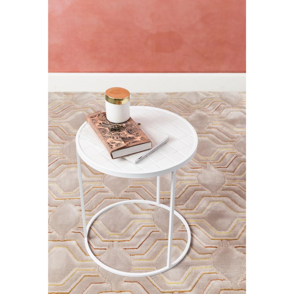 Table d'appoint ronde D40cm blanc