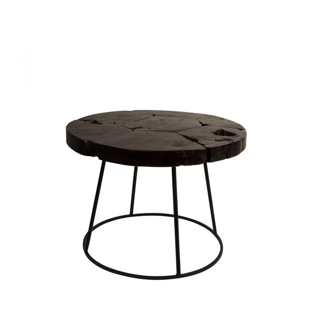 Table d'appoint en bois noir