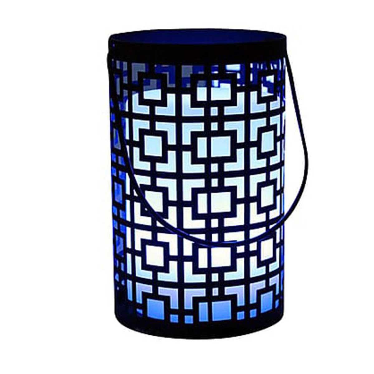 JOY C20-Lanterne sans fil orientale acier noir H23cm