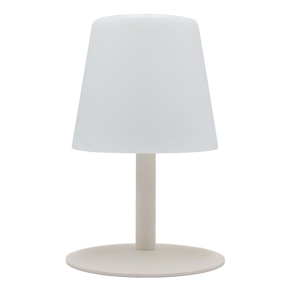 STANDY MINI-Lampe de table sans fil acier crème H25cm
