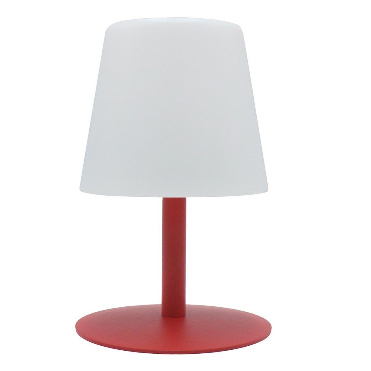 STANDY MINI-Lampe de table sans fil acier rouge H25cm
