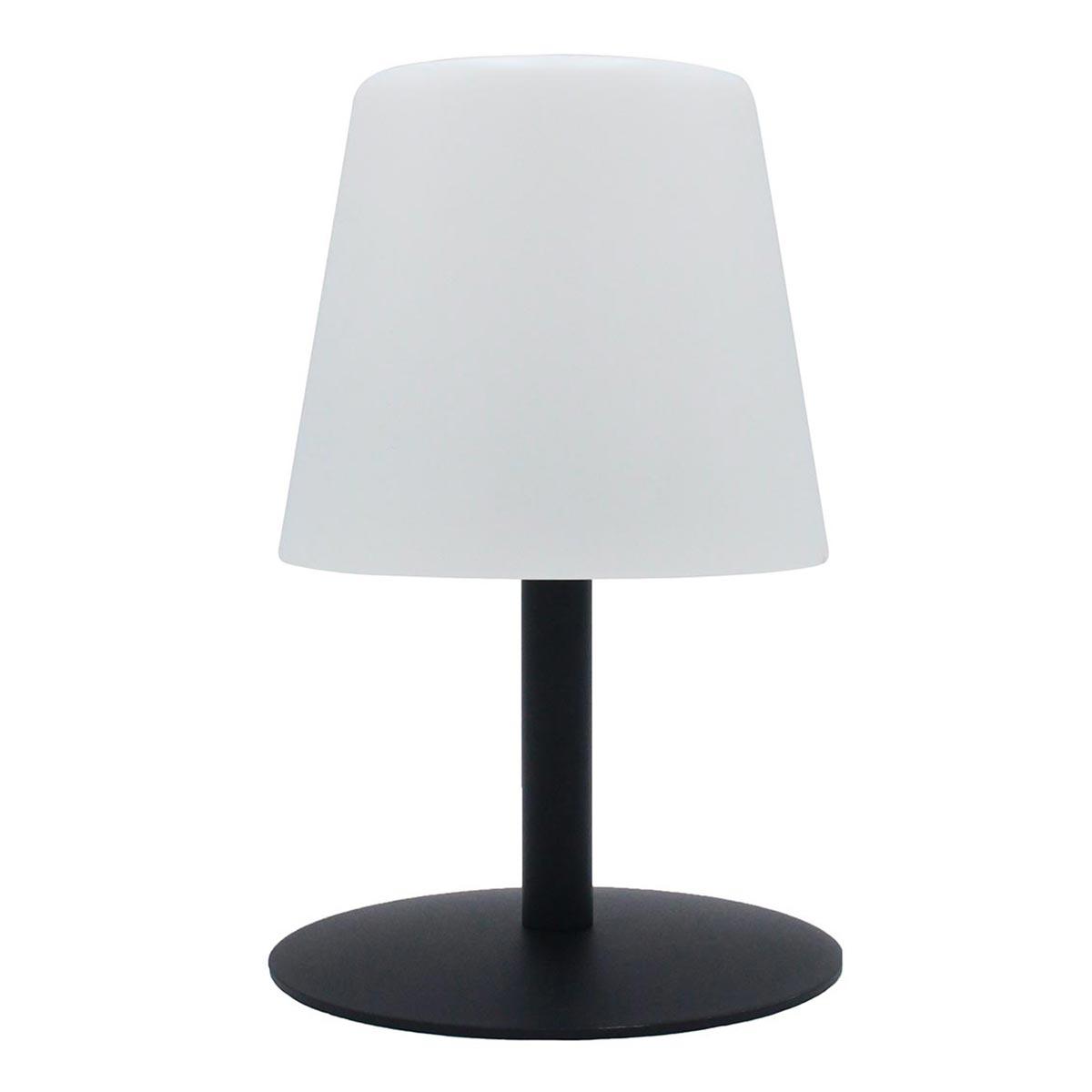 STANDY MINI-Lampe de table sans fil acier noir H25cm
