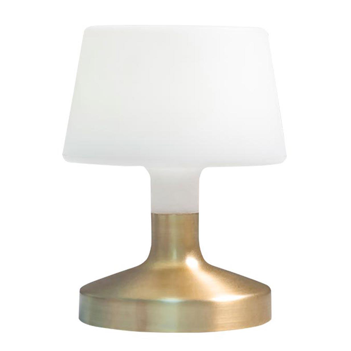 Lampe de table sans fil HELEN doré en acier 21cm