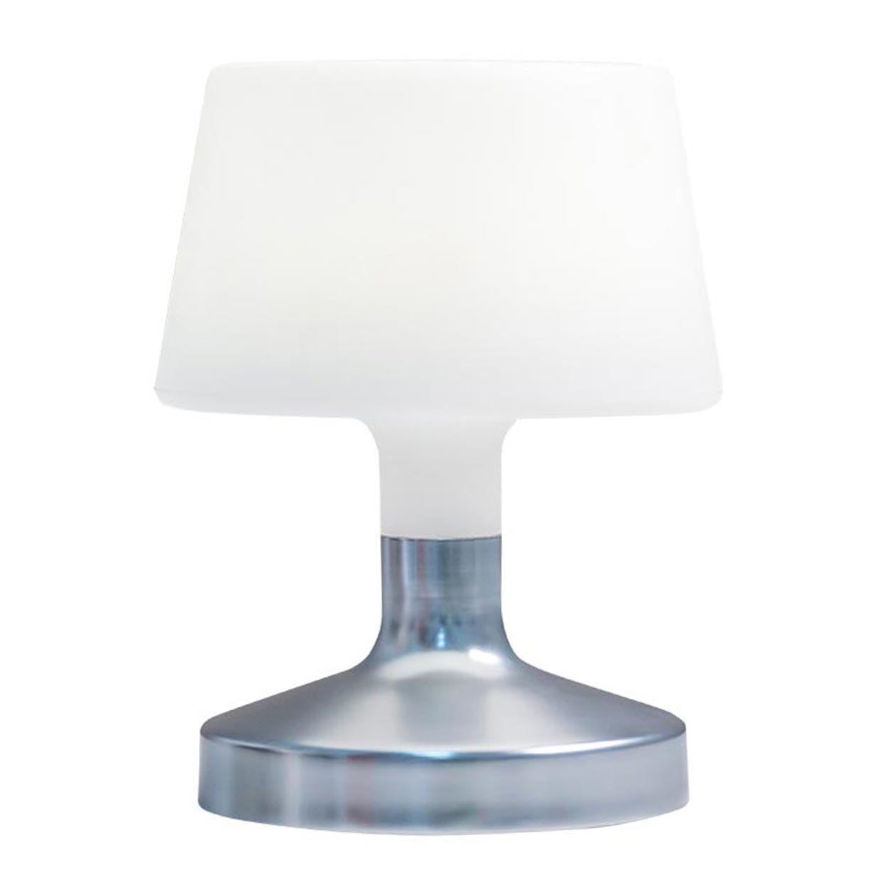 Lampe de table sans fil HELEN argent en acier 21cm