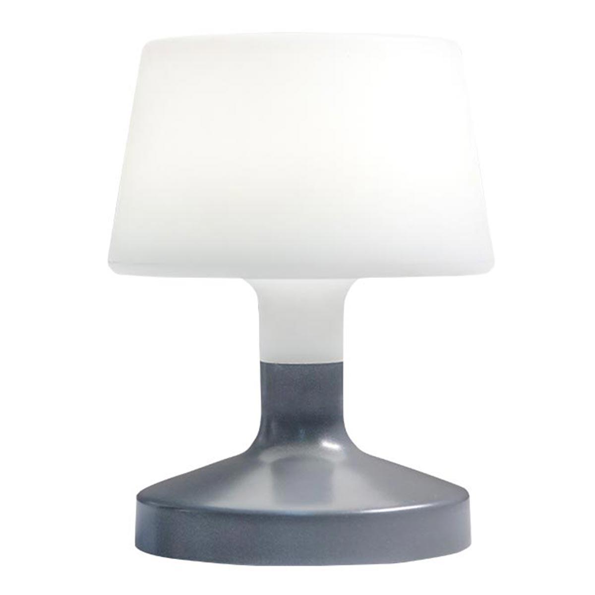 HELEN - Lampe de table sans fil acier gris H21cm