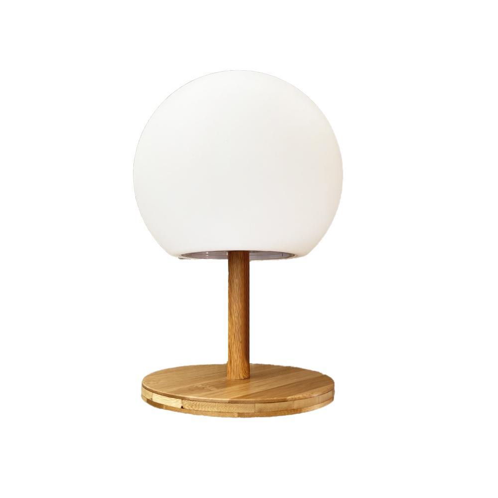 Lampe de table extensible bambou bois blanc H28cm
