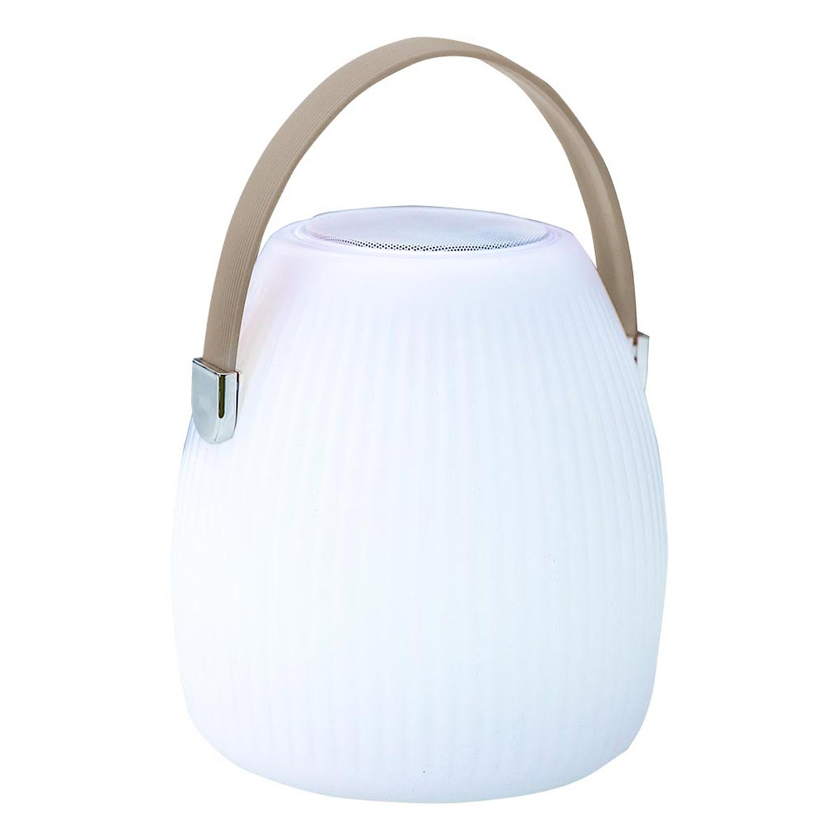 MINI MAY PLAY - Mini lampe enceinte plastique blanc H23cm
