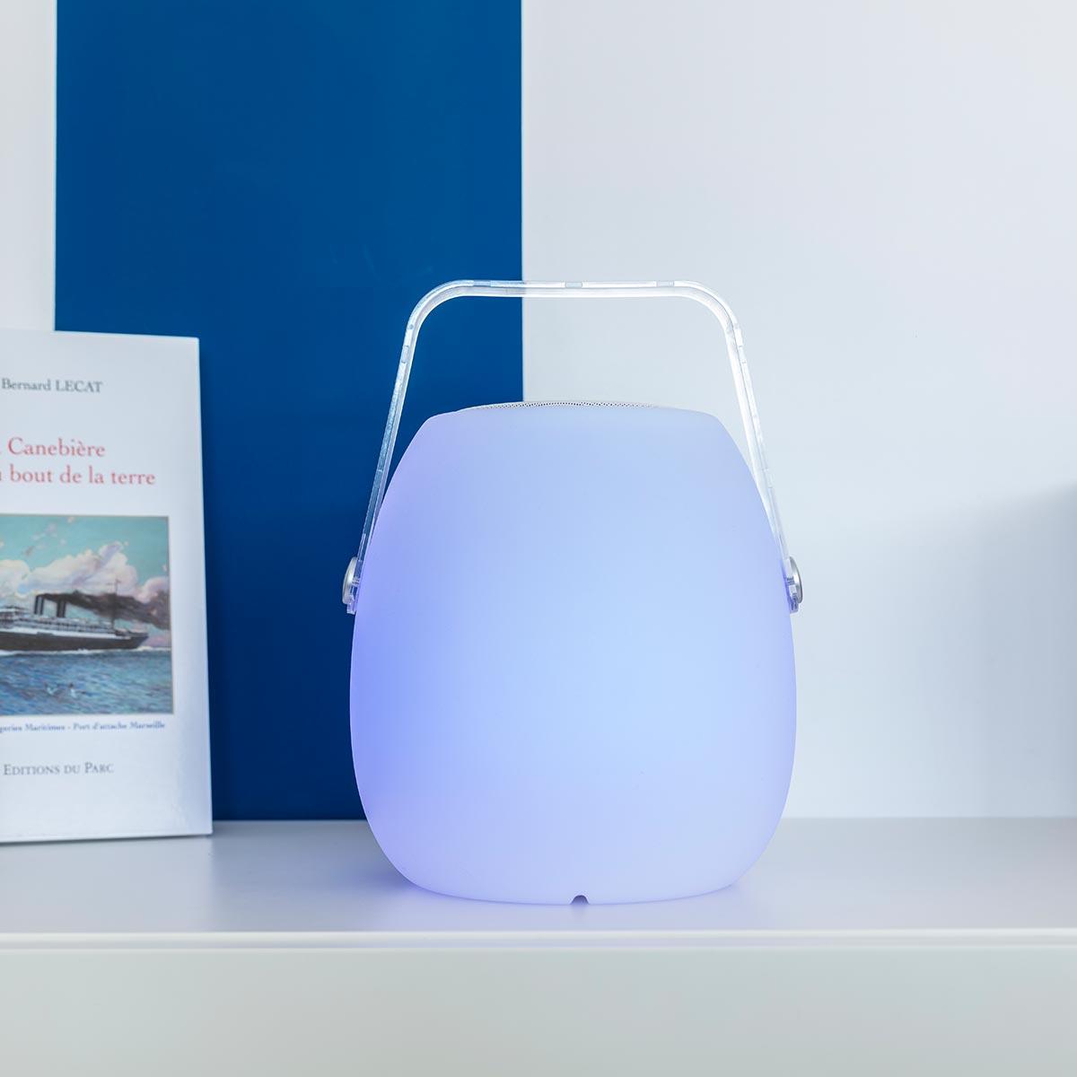 SO PLAY-Baladeuse enceinte bluetooth plastique blanc H30cm
