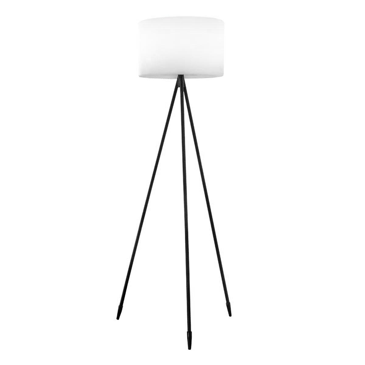 Lampadaire sans fil TAMBOURY noir en acier 150cm