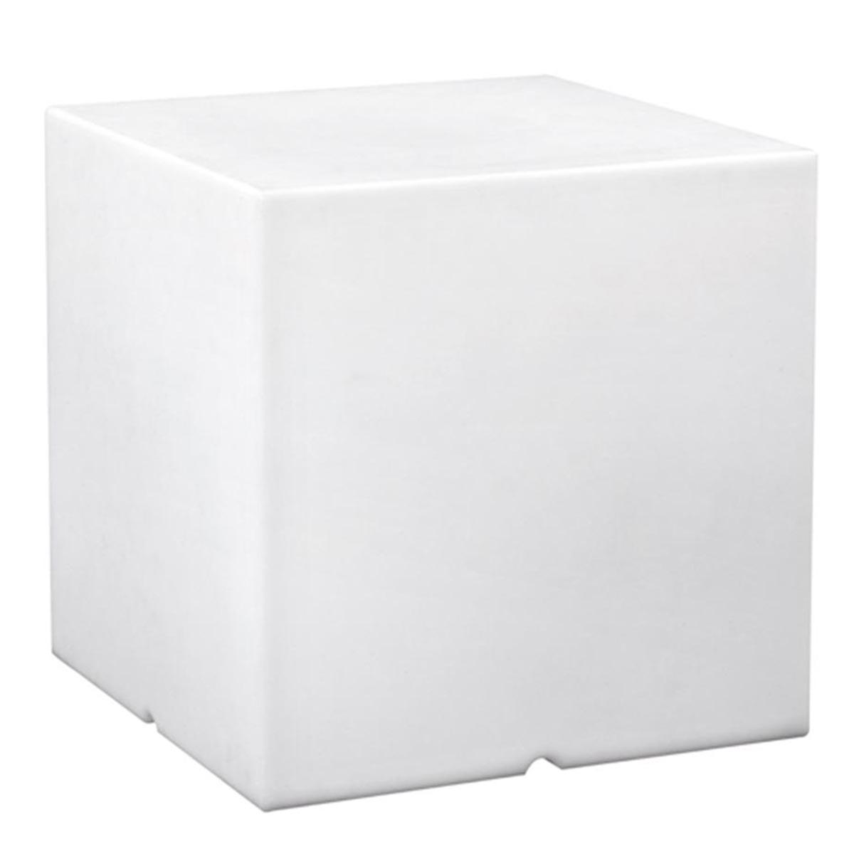 Cube lumineux filaire plastique blanc H40cm