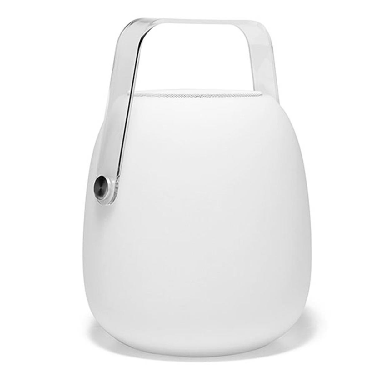 MINI SO PLAY-Mini lampe enceinte plastique blanc H25cm