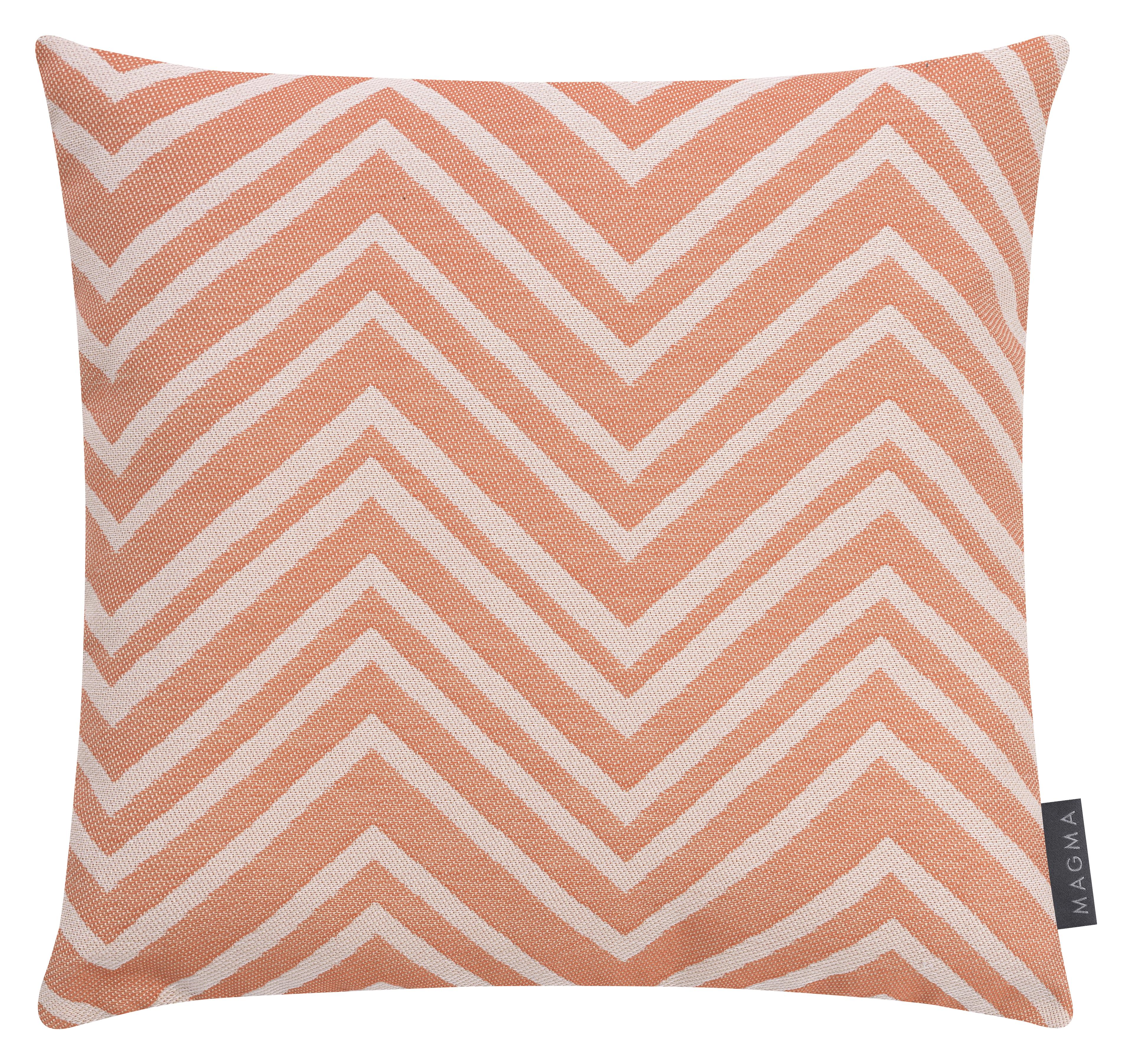 Housses de coussin zigzag orange outdoor Dralon - lot de 2 - 40x40