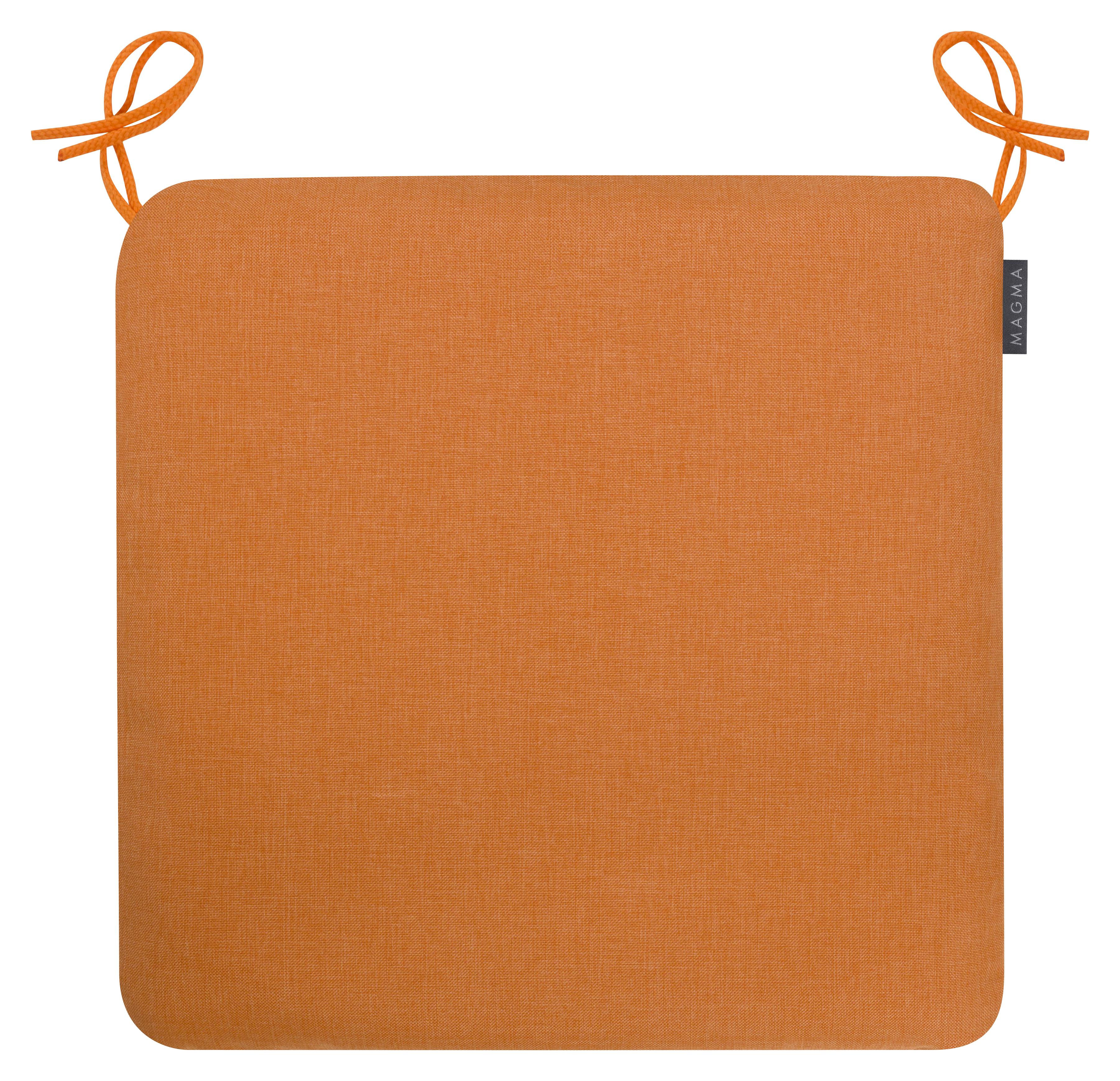 Galettes de chaises confort outdoor à nouer orange - Lot de 4 - 44x44