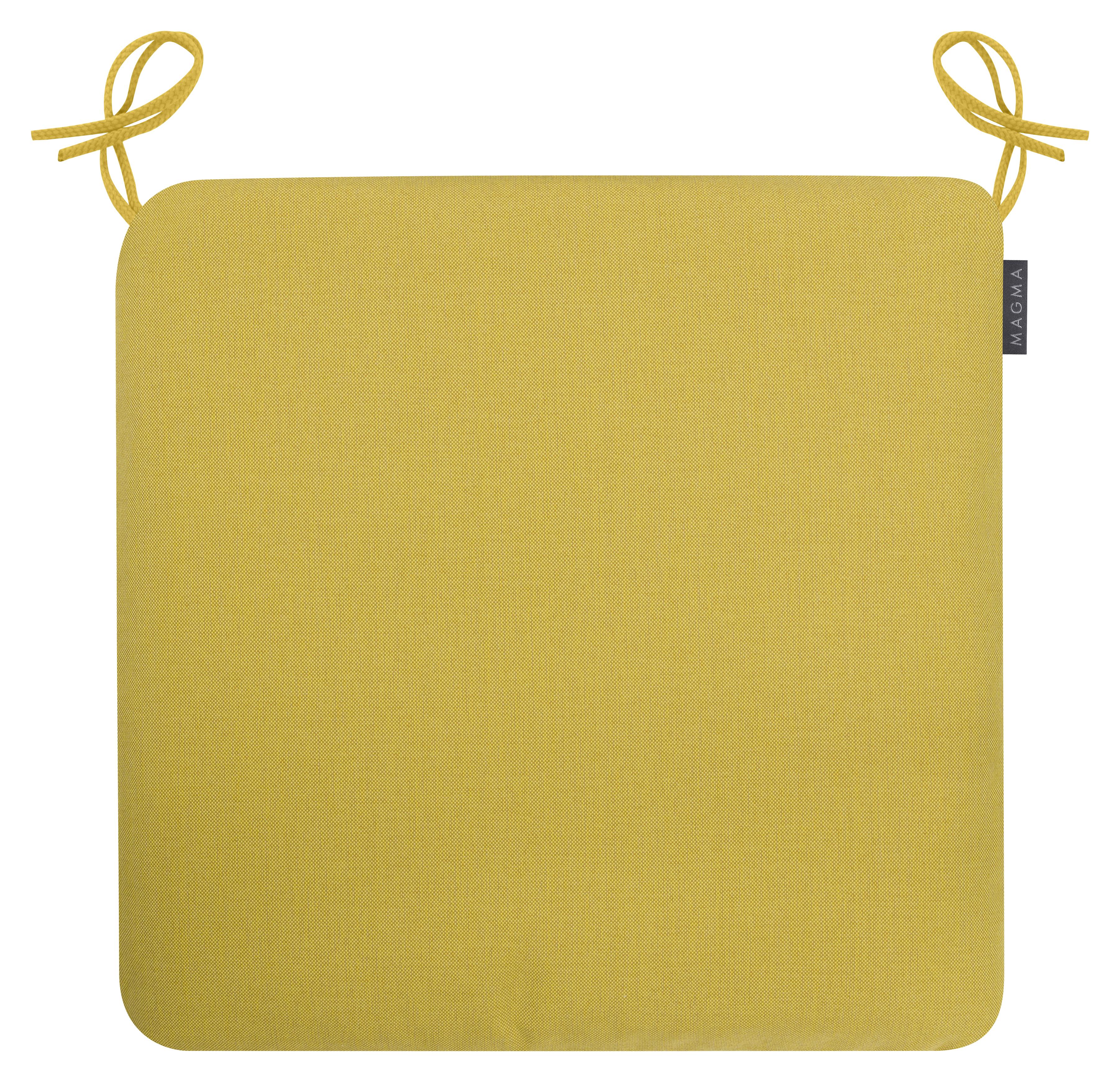 Galettes de chaises confort outdoor à nouer moutarde Lot de 4 - 44x44
