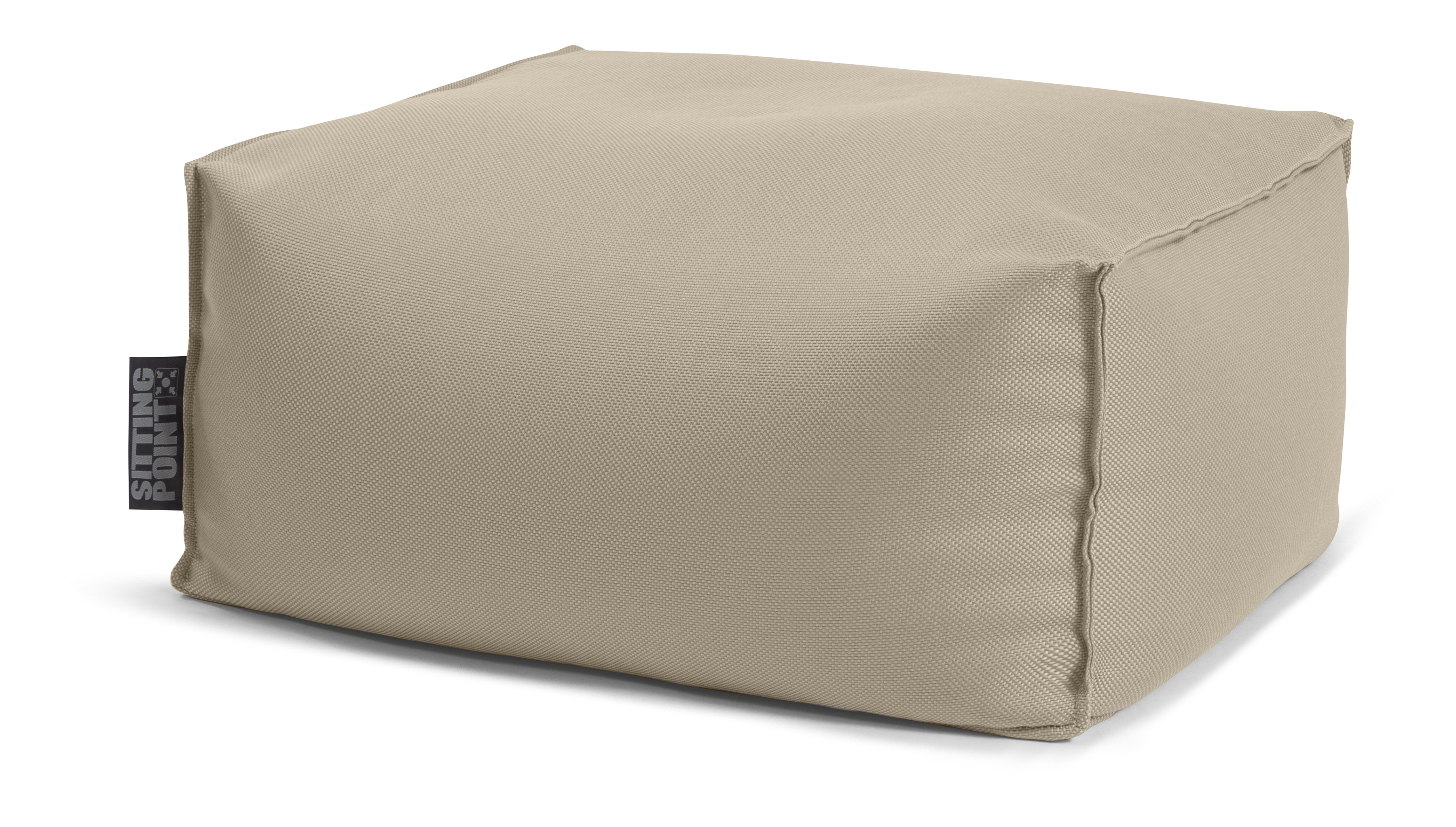 Pouf repose-pieds outdoor taupe 55x65x35