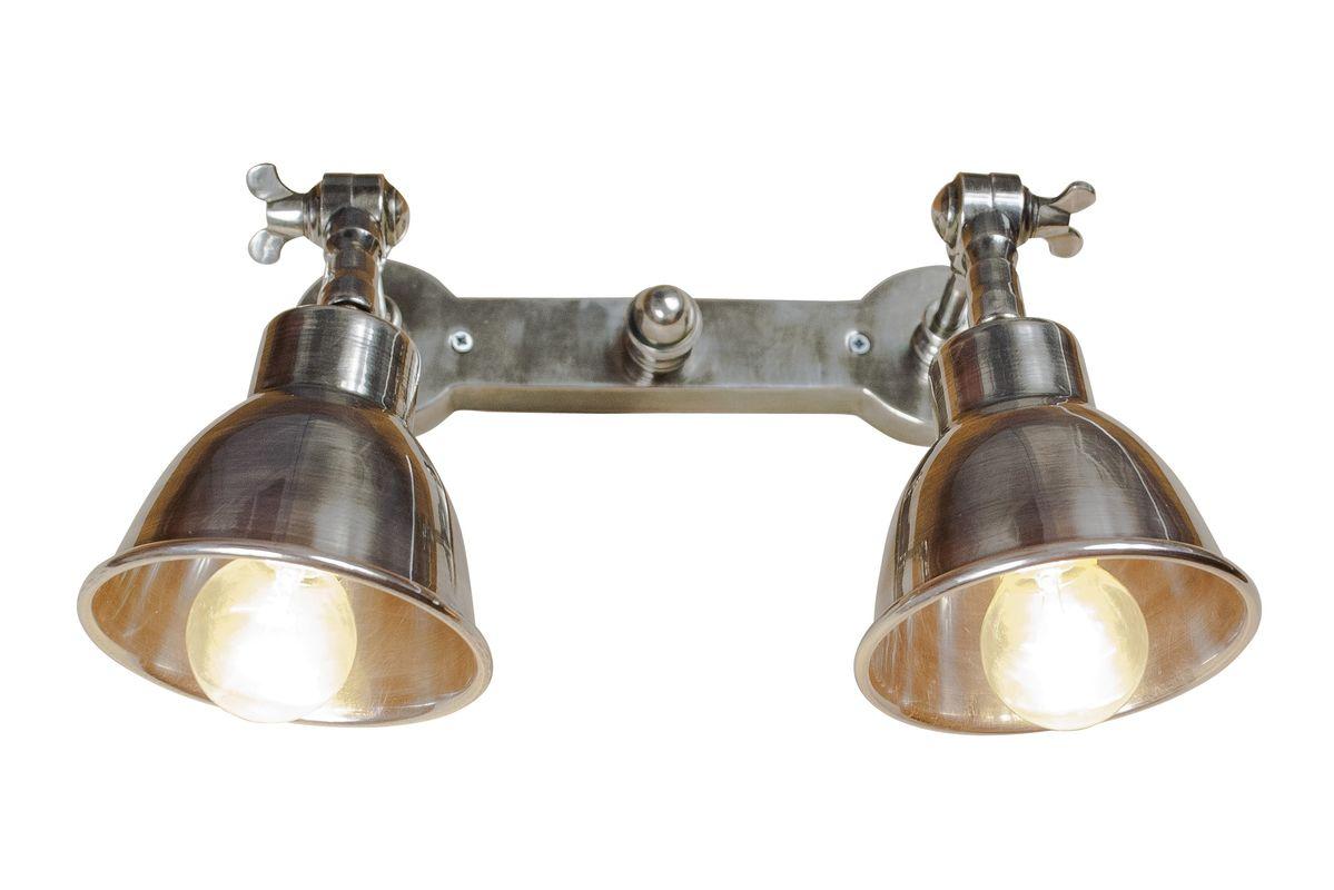 Double applique en métal argenté
