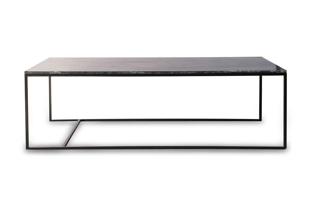 Grande table basse en marbre vert