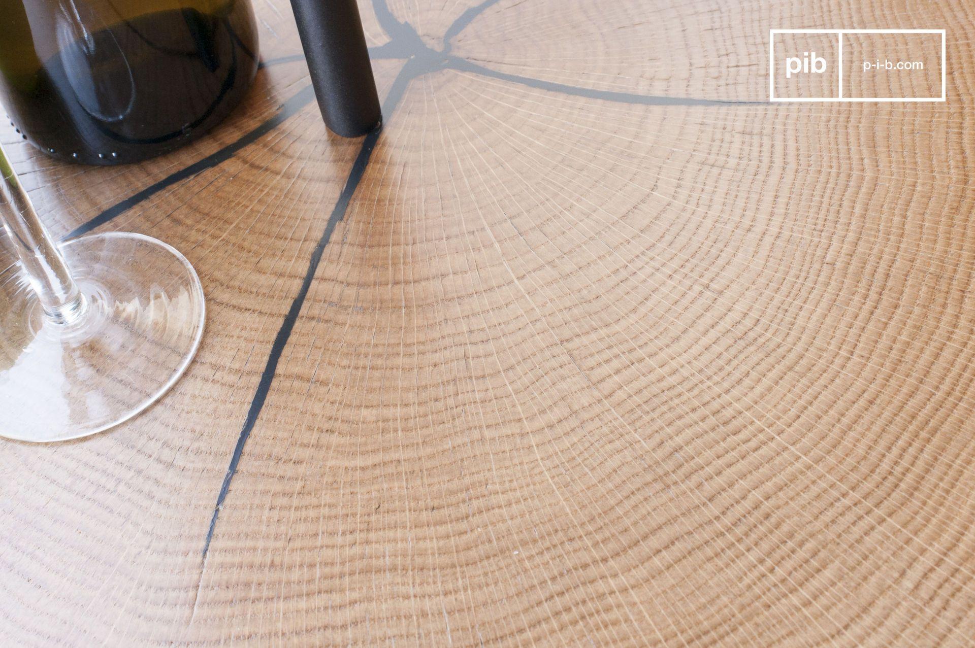 Table transportable en métal et bois marron