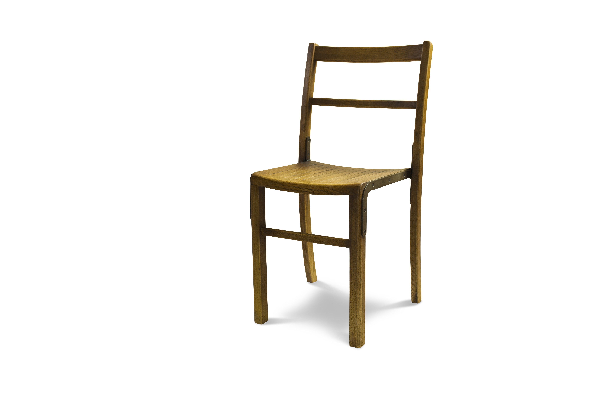Chaise bistrot en bois marron