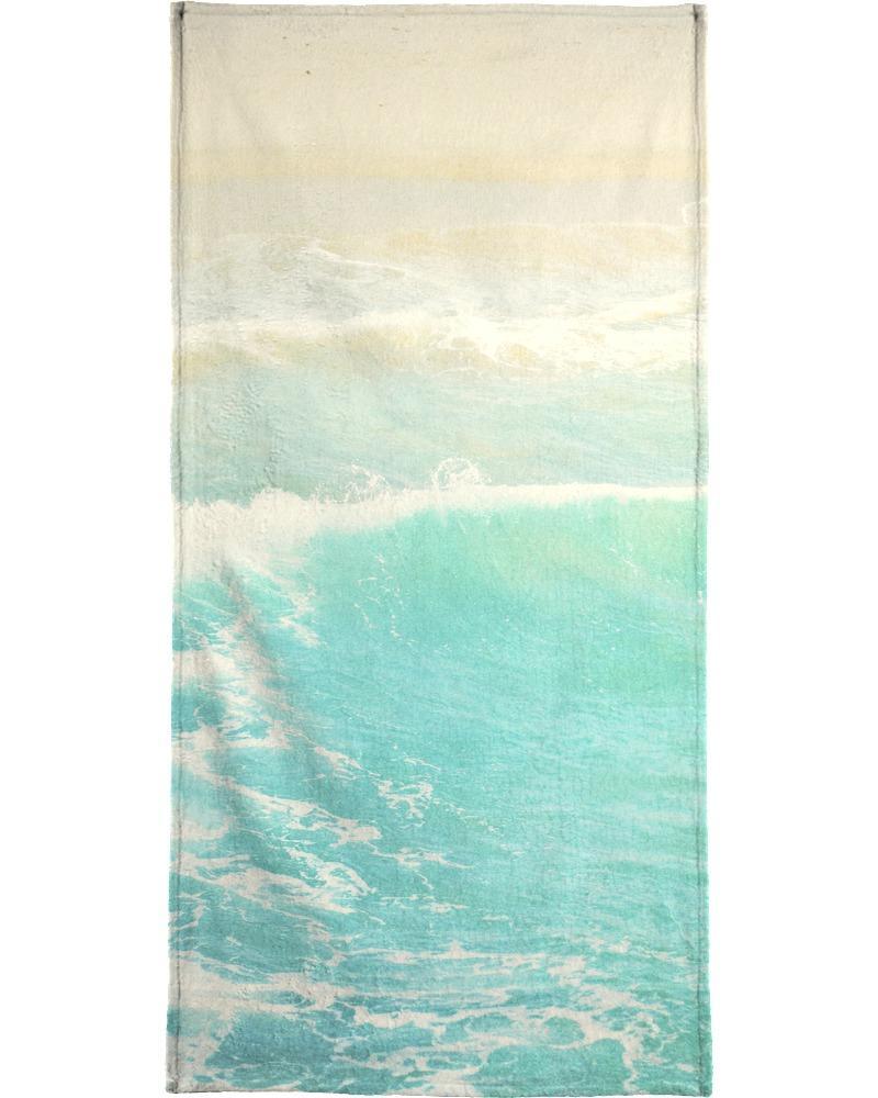 Serviette de bain en éponge-velours en Bleu & Turquoise/70x140