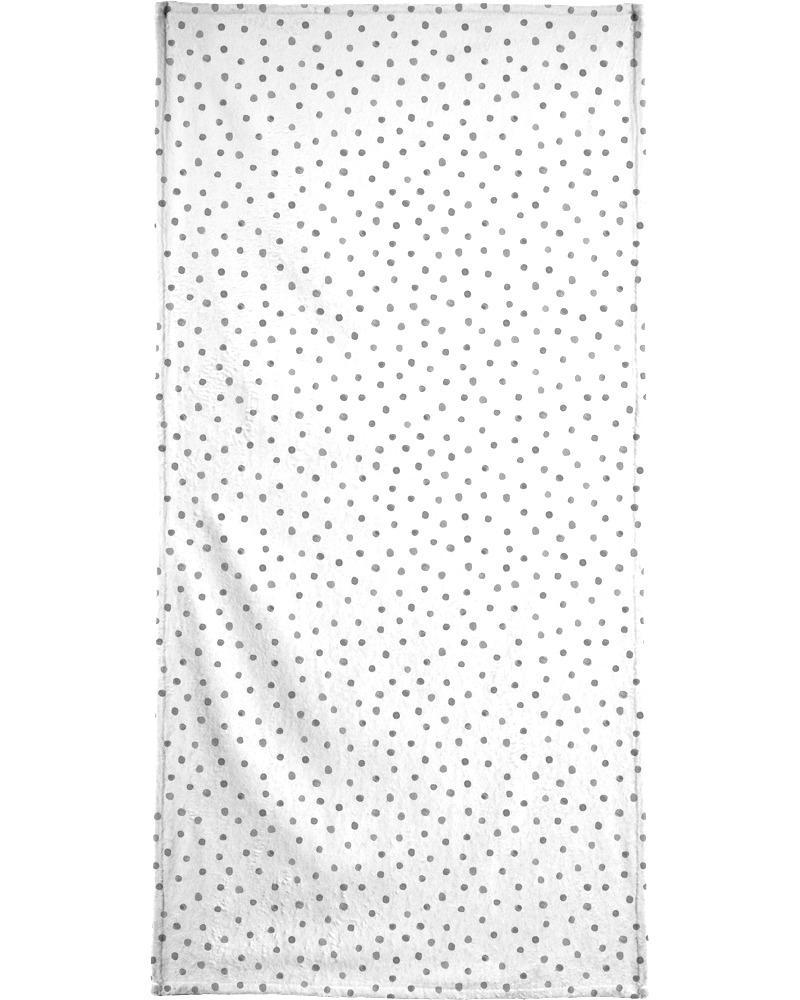 Serviette de bain en éponge-velours en Gris/70x140