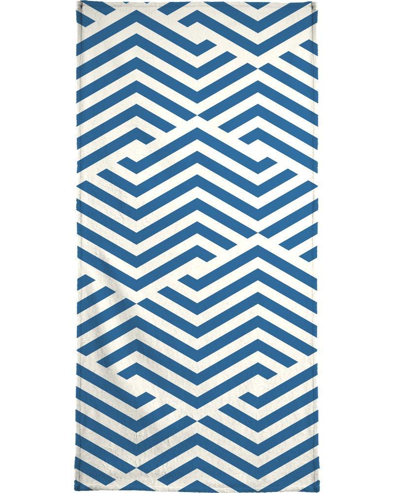 Serviette de bain en éponge-velours en Bleu/40x80