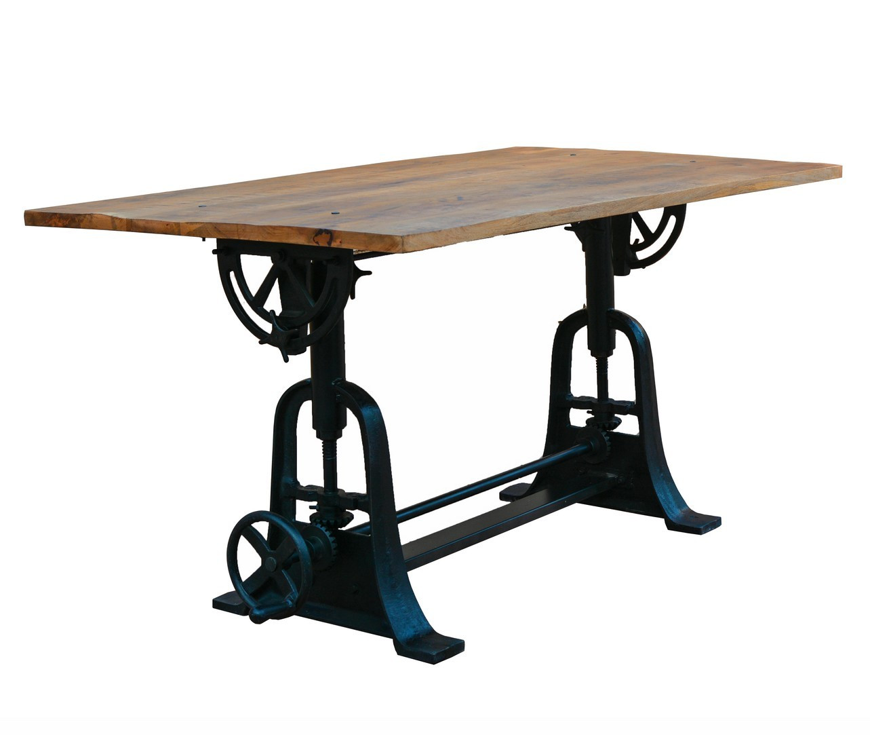 maison du monde Table en bois de style industriel L150
