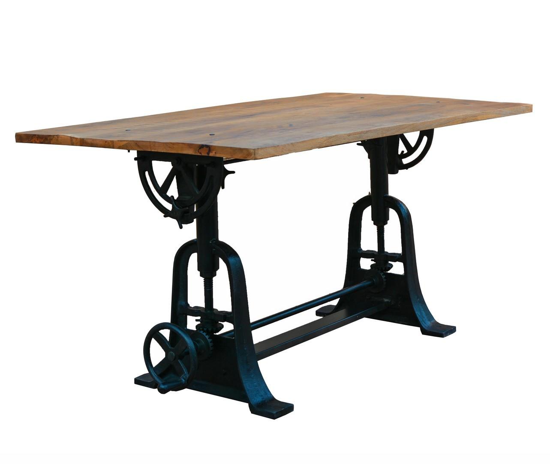 Table en bois de style industriel L150