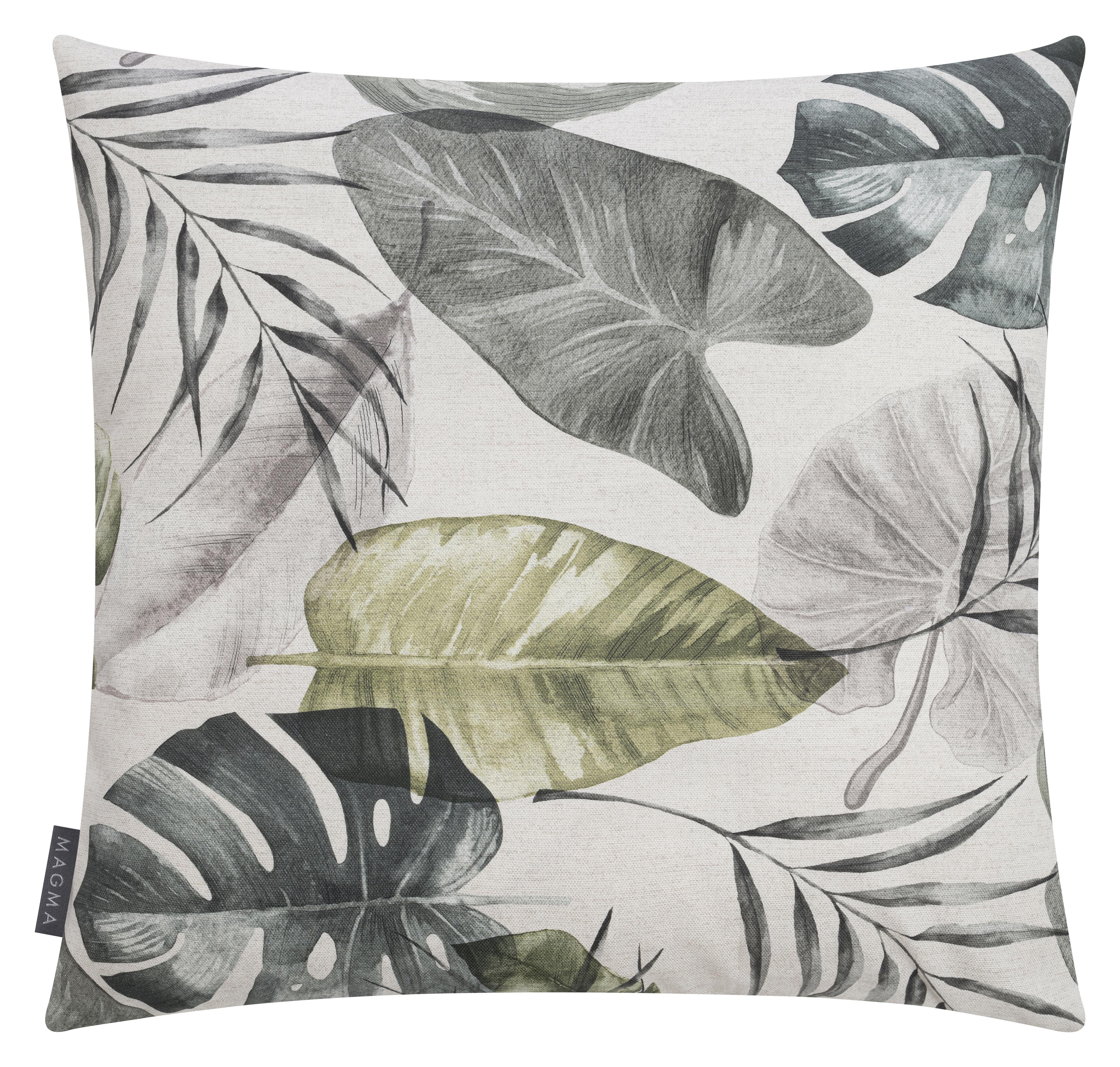 Housse de coussin 50x50 motif végétal vert - Lot de 2