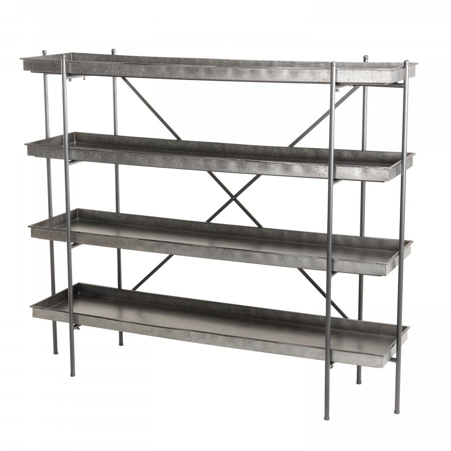 Etagère 4 niveaux zinc structure métal (photo)