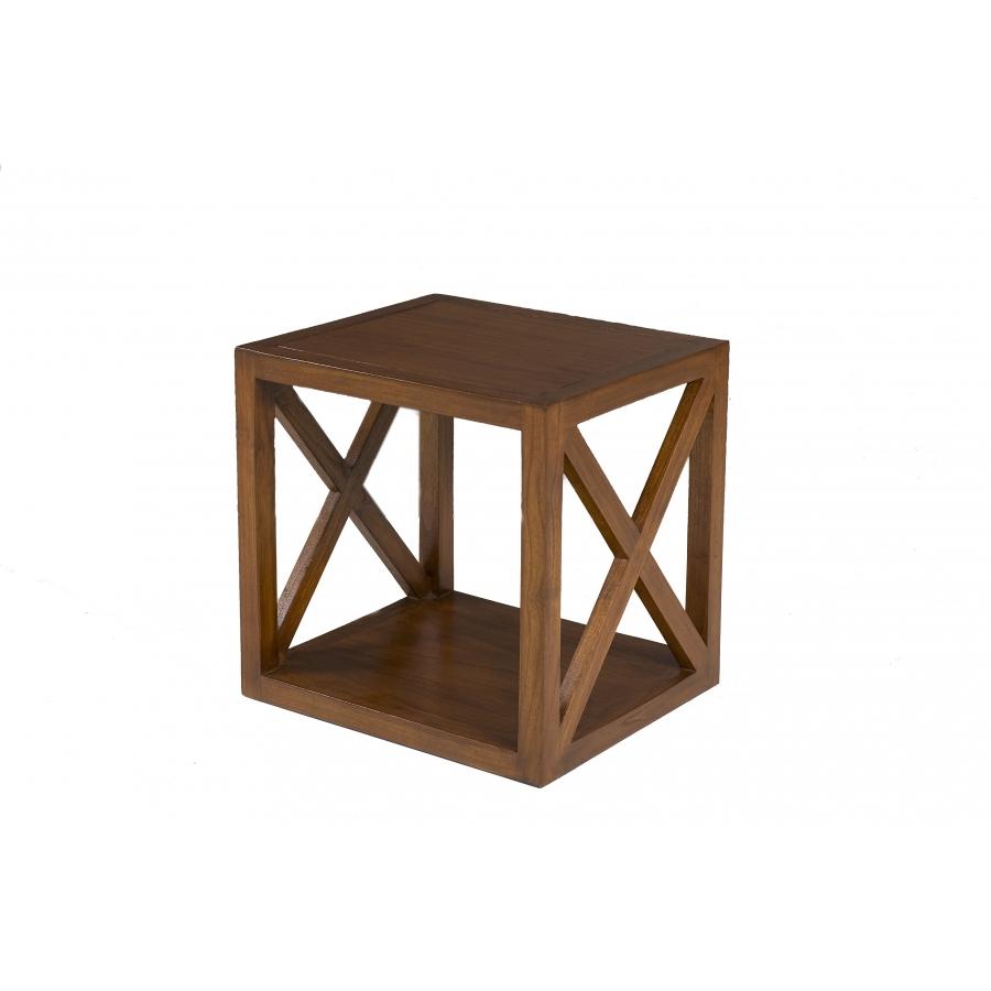 Etagère 1 case croisillon bois